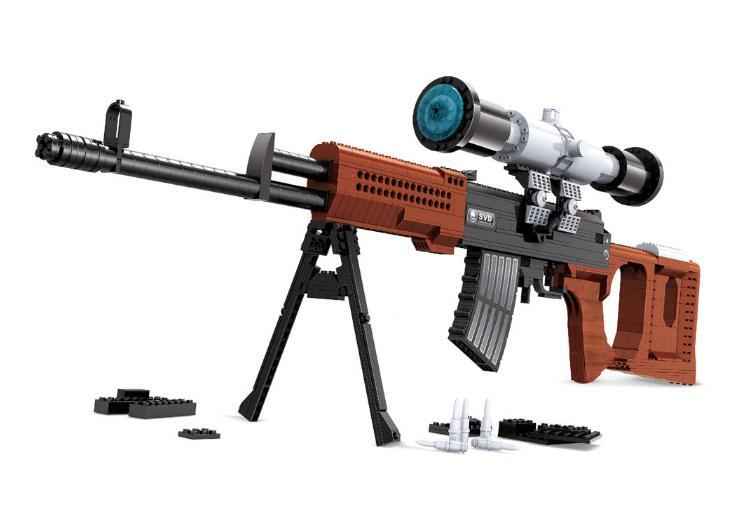 SWAT AK47 Sniper fusil pistolet désert aigle ensembles blocs de construction enfants garçons assembler jouets pistolets packs armes