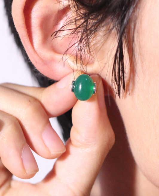 Boucles d'oreilles opale vert/rouge/bleu/blanc Zircon cubique clous pour les femmes de mariage mode luxe bijoux fins oeil de chat Brincos SYC39