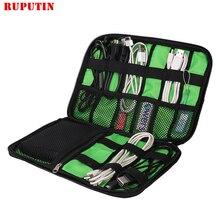 купить Travel Insert Bag Portable Cable Storage Organizer Bag Waterproof Shockproof Earphone Digital USB Sorting Travel Accessories Bag по цене 293.69 рублей