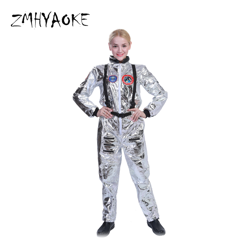 862865d865b4 ZMHYAOKE Family Astronaut Alien Pop Dancer Stage Space Costume Carnival  Party Club Male Outfits Clothing Halloween Fancy Costume-in Matching Family  Outfits ...