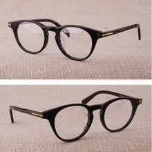 add40265a70 Cubojue Acetate EyeGlasses Frame Men Women small face Round clear lens glasses  Man Prescription Spectacles Brand