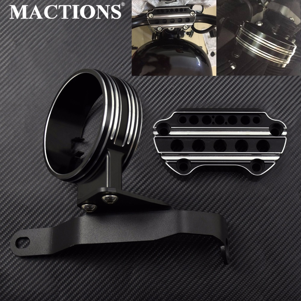 Motorcycle Instrument Bracket Speedometer Bracket Housing Side Mount Relocation Cover For Harley Sportster 883 XL 2004 2018-in Covers & Ornamental Mouldings from Automobiles & Motorcycles    1