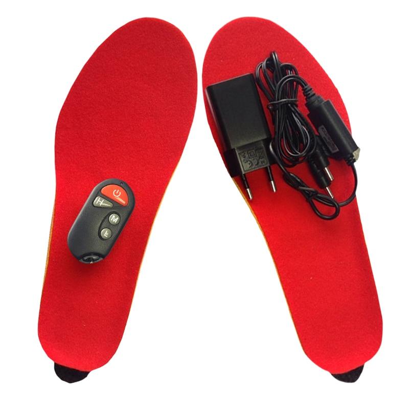 Nuevas plantillas calefactoras recargables, plantillas calefactoras, plantilla gruesa de invierno, lana caliente con piel, mantener los pies calientes para mujeres y hombres zapatos-in Plantillas from zapatos    2