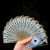 Waterdichte Plastic Poker Kaarten Gold Gilded Crystal