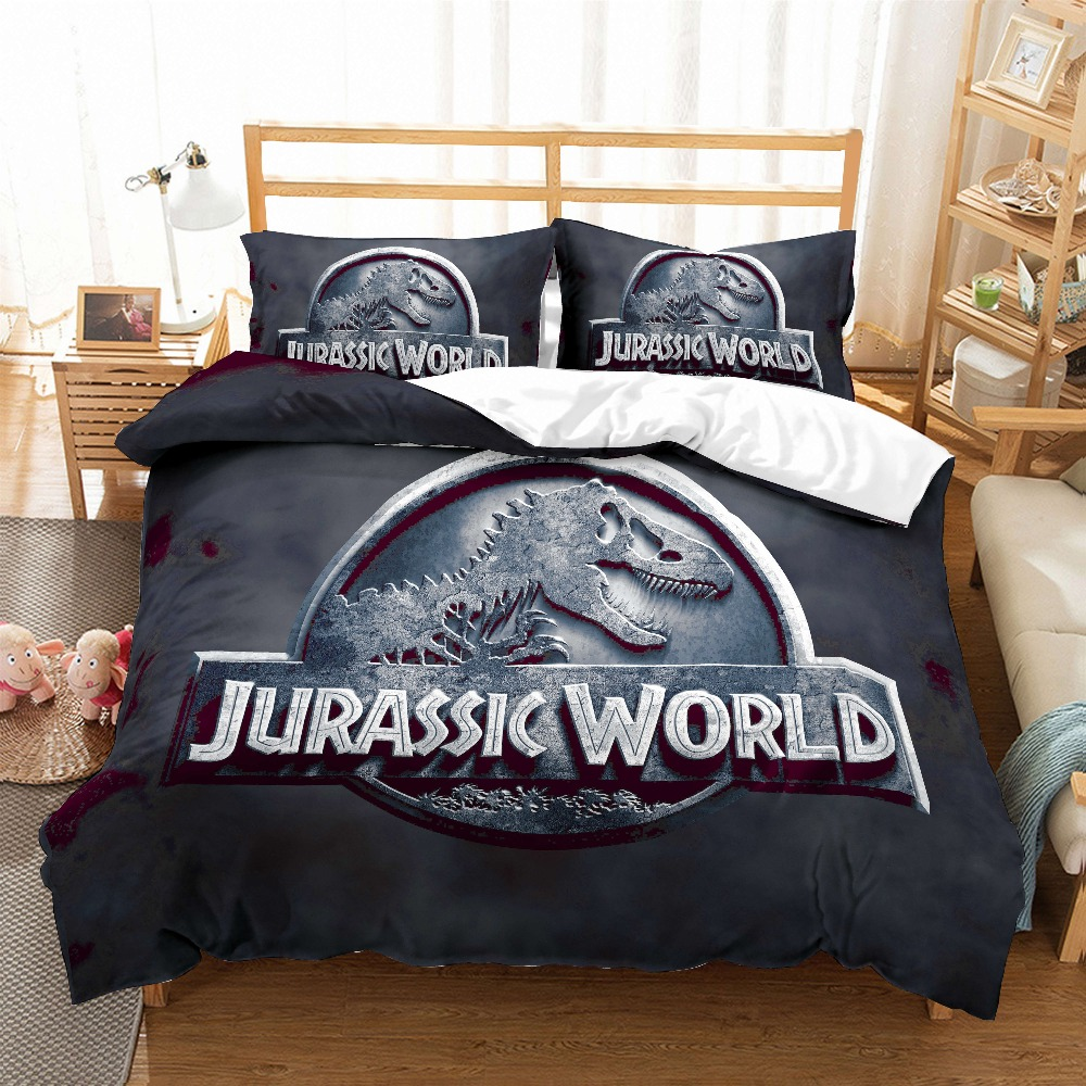 Jurassic Park Dinosaur 3D Bedding Set Prehistoric Dinosaur World Comforter Bedding Sets Bedclothes Bed Linen Tyrannosaurus Rex