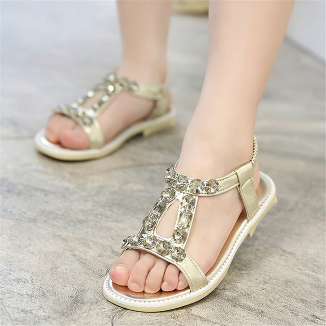 31a7a99cdc5 MXHY 2017 spring and summer rivets girls  sandals pretty girl s leather  rhinestone princess shoes girls  dancing flats 27-36