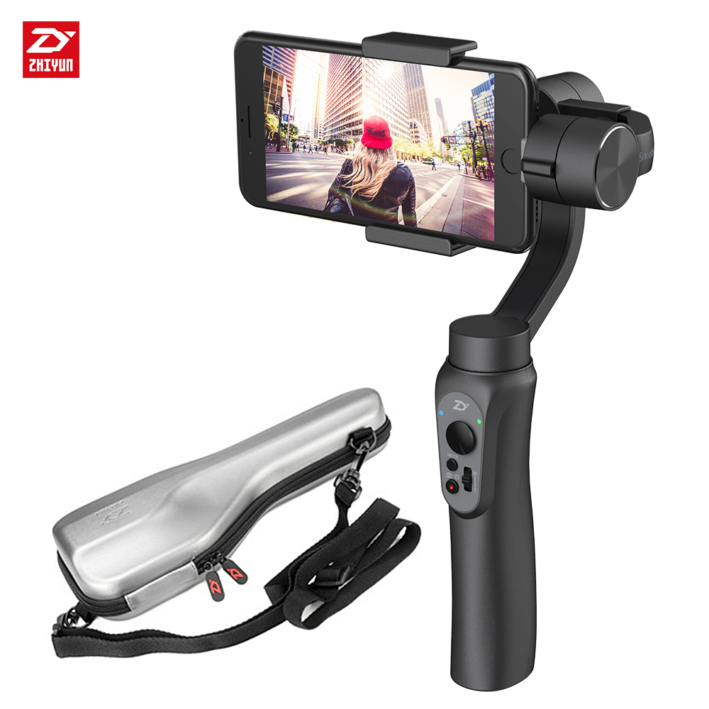 zhi yun Zhiyun Official Smooth Q Handheld Gimbal stabilizer 3-Axis Smartphone Stabilizer for iPhone Samsung Huawei Xiaomi 2 axis smartphone handheld stabilizer mobile phone brushless gimbal with bluetooth for iphone for samsung for xiaomi for huawei