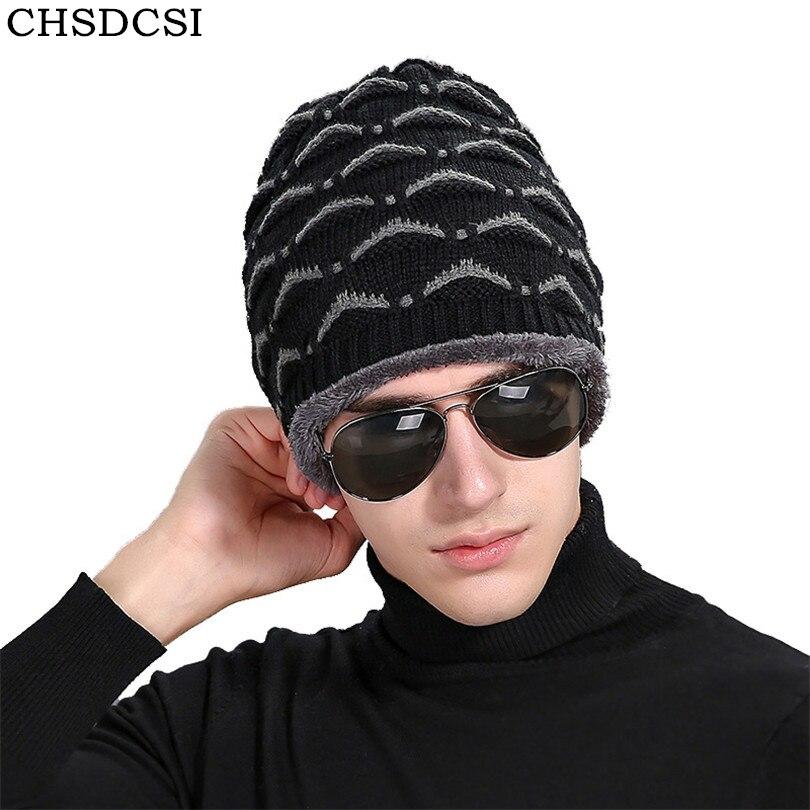 CHSDCSI Women Men Unisex Knitted Winter Cap Casual Beanies Winter New Labeling Knit Cap Velvet Solid Outdoor Hooded Ski Warm Hat unisex women men knit skullies beanies solid winter warm oversize ski cap hat