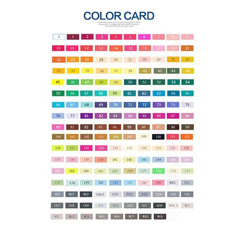 1PCS Touchfive Marker Set 168 Colors Can Choose Dual Head