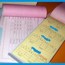 Горячая, Чековая Бумажная книга, безуглеродная книга для чеков, индивидуальная печать чеков