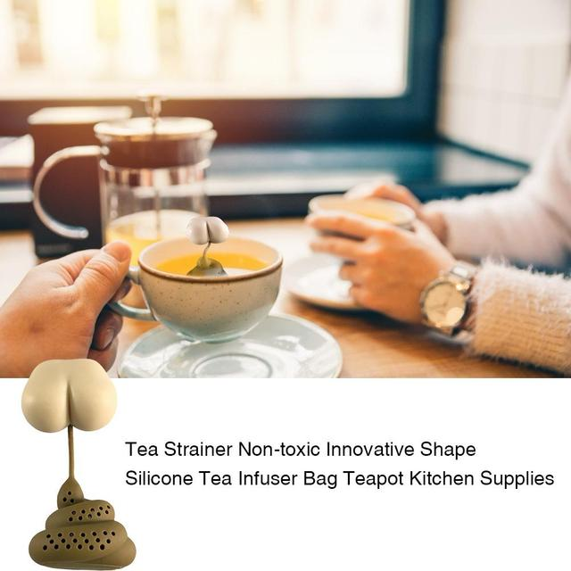 Funny Tea Strainer Non-toxic Innovative Shape Silicone Tea Infuser Bag Teapot Reusable Home Kitchen Supplies Tea Strainer Tools