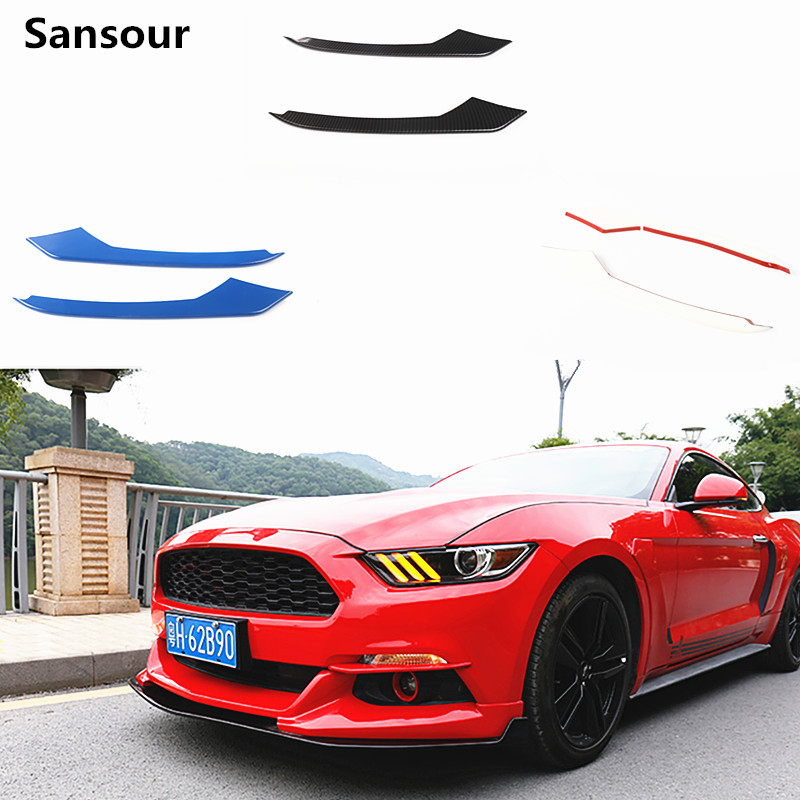 Sansour ABS Car Front Fog Light Eyelid Decoration Cover