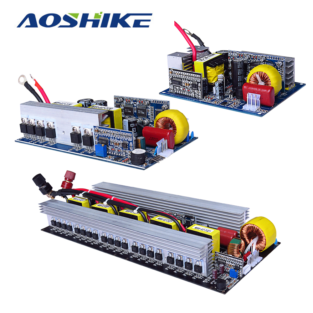цены Aoshike Pure Sine Wave Inverter Board DC 12V to AC 220V 300/500/600/1000/1500/2000/2500/3000W Pass Technical Tested High Quality