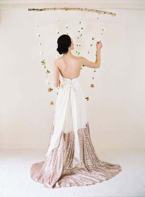 463827d2c6749 Split Joint Long Skirt Bridesmaid A Line Chiffon And Sequined Custom Made  High End Women Skirt Formal Lady Maxi Skirt -in Skirts from Women's  Clothing ...