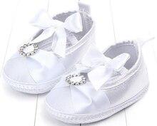 baby girls shoes newborn white satin lace infant prewalkers little crib nonslip christenning wedding crystal