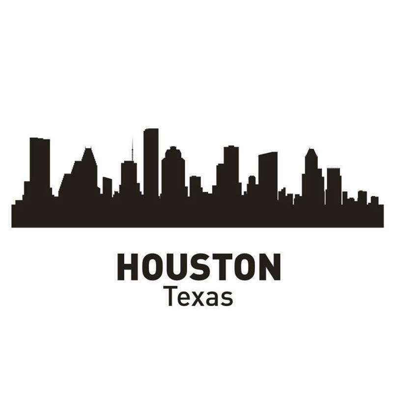 Garden Decor Houston: HOUSTON City Decal Landmark Skyline Wall Stickers Sketch