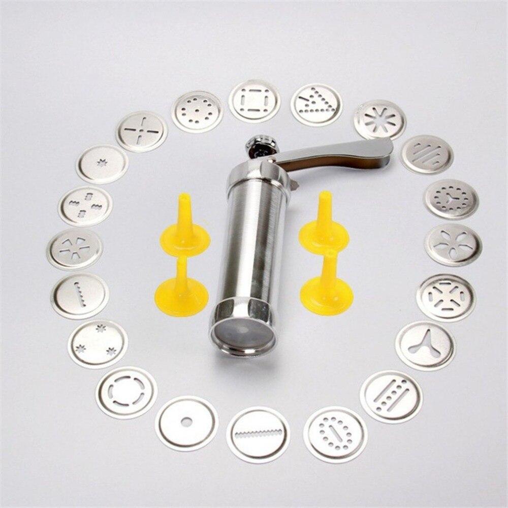 Cookie Press Machine Biscuit Maker Cake Making Decorating Gun Kitchen Aluminum Icing Sets