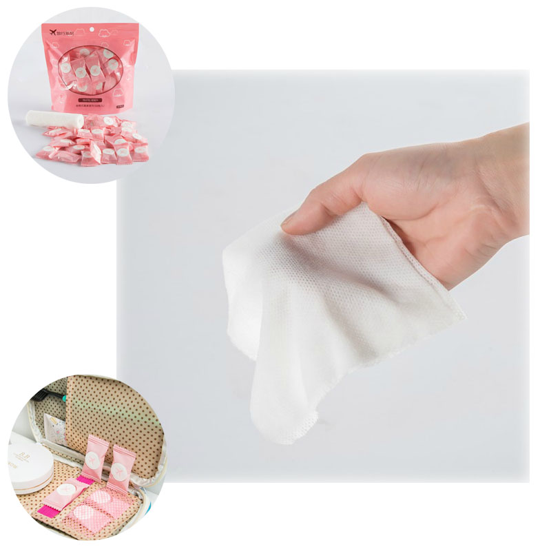 100 PCS Portable multi-purpose turisme Engang komprimert håndkle Ren bomull Beauty Face Wipes Clean Face Håndkle Visker Reise