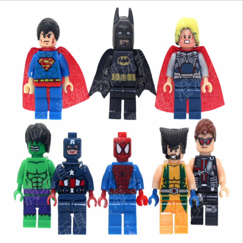 1PCS/lot  4.5CM Marvel Super Hero Avengers Puzzle DIY Accessories Toy Brick Model Toys For Children Puzzle Funny Gifts