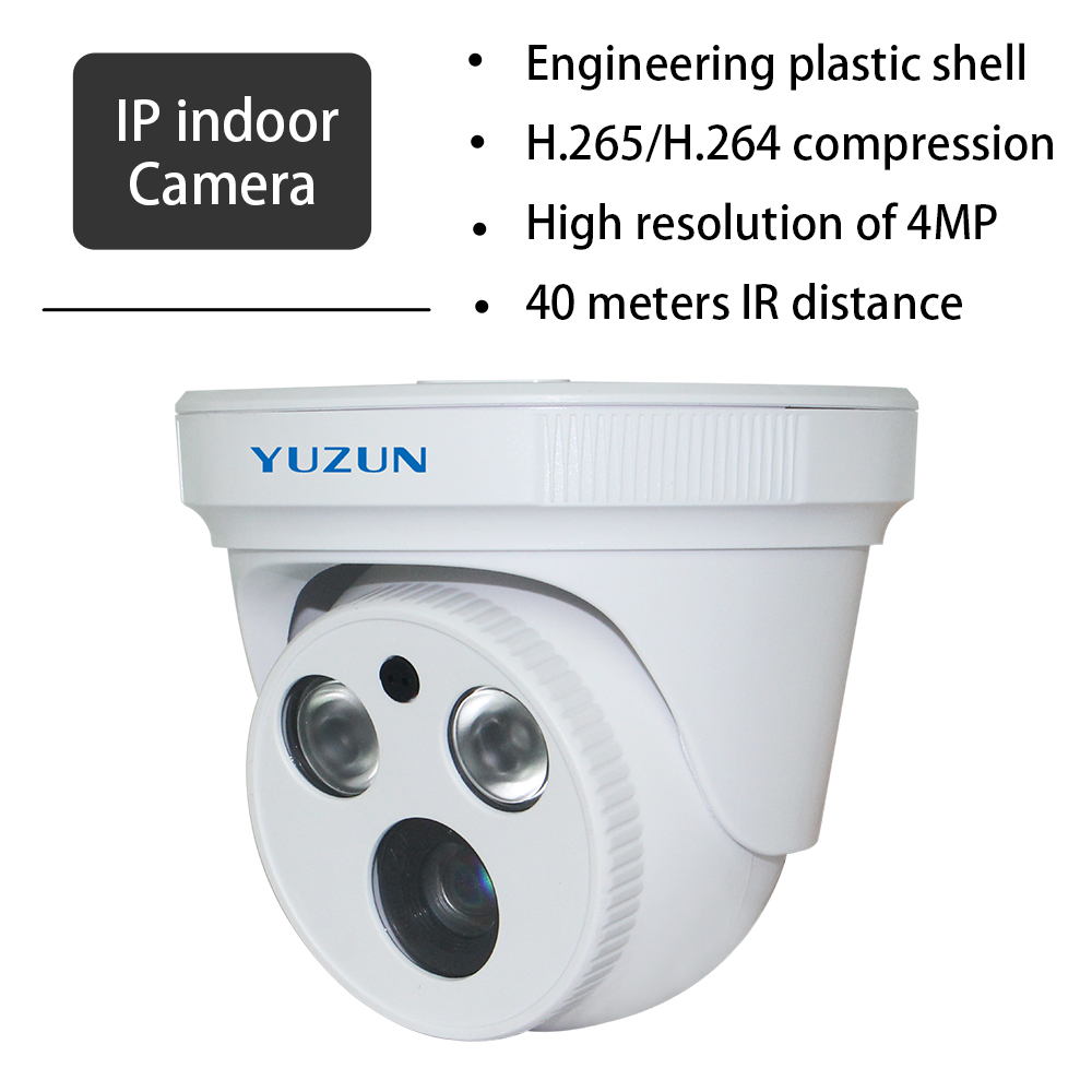 Mini 4MP IP Camera IR-cut HD Network Dome security camera H.265/H.264 IPC ONVIF Mega Pixel indoor surveillance camera heanworld dome ip camera hd h 265 5 0mp cctv security camera video network camera onvif surveillance outdoor waterproof ip cam