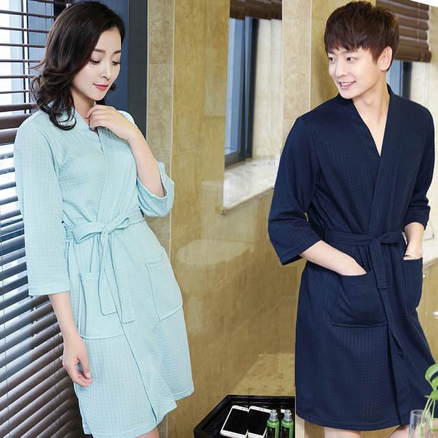 65e87b1b33 Hot Sale Lovers Summer ElegantSuck Sweat Towel Bath Robe Plus Size Men Sexy  Kimono Bathrobe Mens. placeholder ...