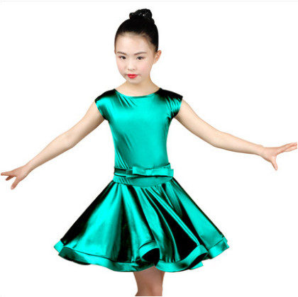 Rumba Samba Spandex Children Samba 2018 Girls Latin Dresses For Dancing Ballroom Dance Dress Cha Cha Tango Skirt Standard Salsa
