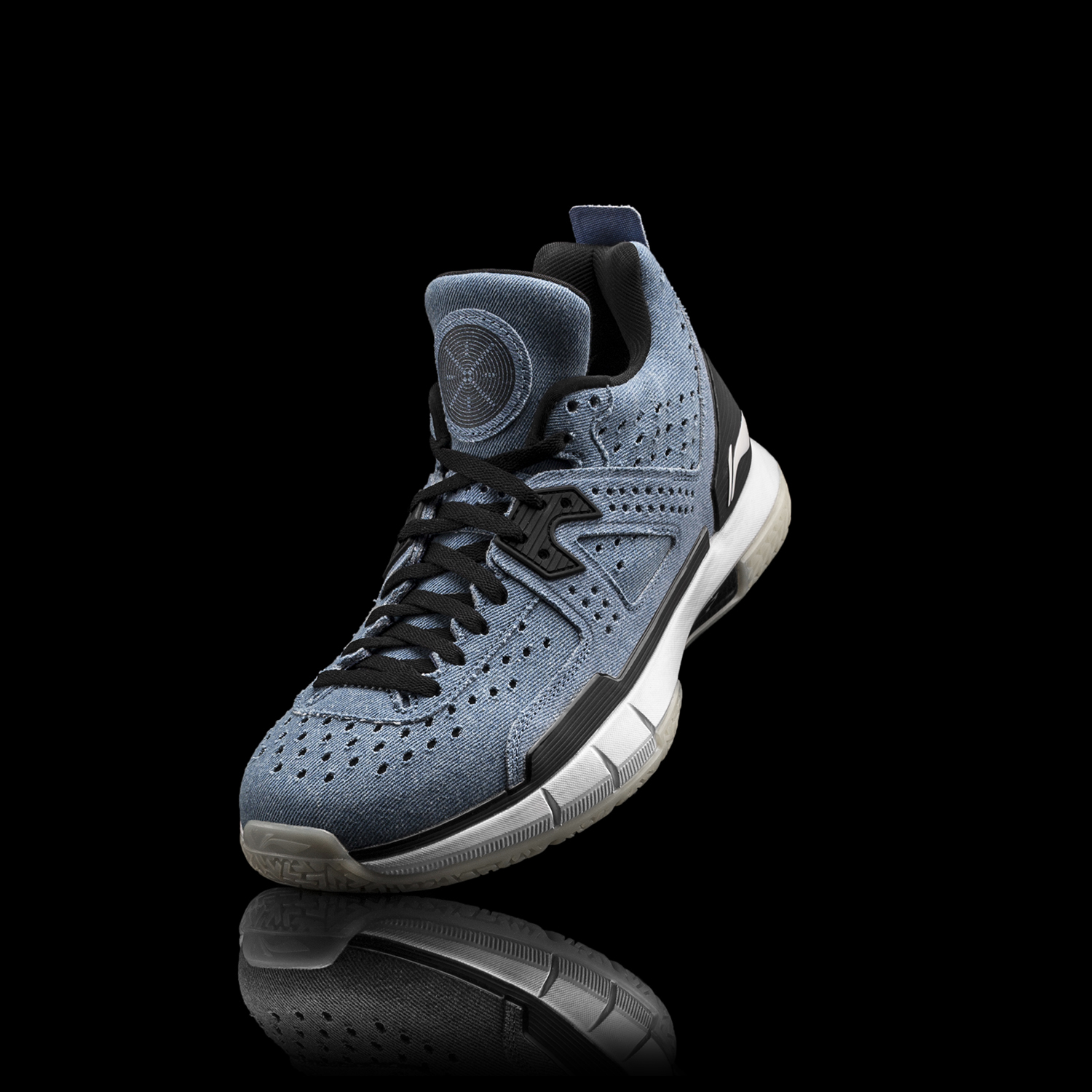 Li-Ning Men WOW 5 Denim Professional Basketball Shoes LiNing Cloud Bounse + wow5 Sneakers Way of Wade Sport Shoes ABAM057 XYL099 18