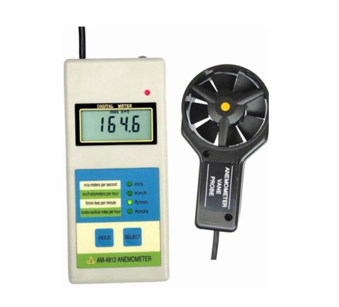 Digital Anemometer AM-4812 Wind Speed Meter AM4812
