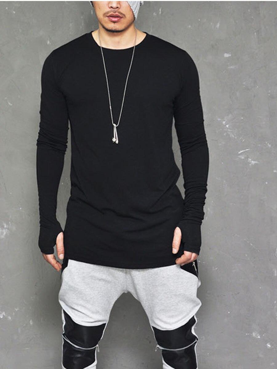 Mens Golve T Shirt 2018 New Arrival Long Sleeve O Neck