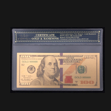 Nice Products For America Banknotes 100 Dollars in 24K Gold Paper Money With Plastic Frame Collection And Gift