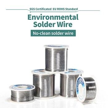 Nuevo rollo de alambre de soldadura de alta calidad, núcleo de resina estaño plomo 0,4 0,5 0,6 0,8 1mm, cables de estaño para soldadura con bobina de alambre de soldadura de hierro fundente