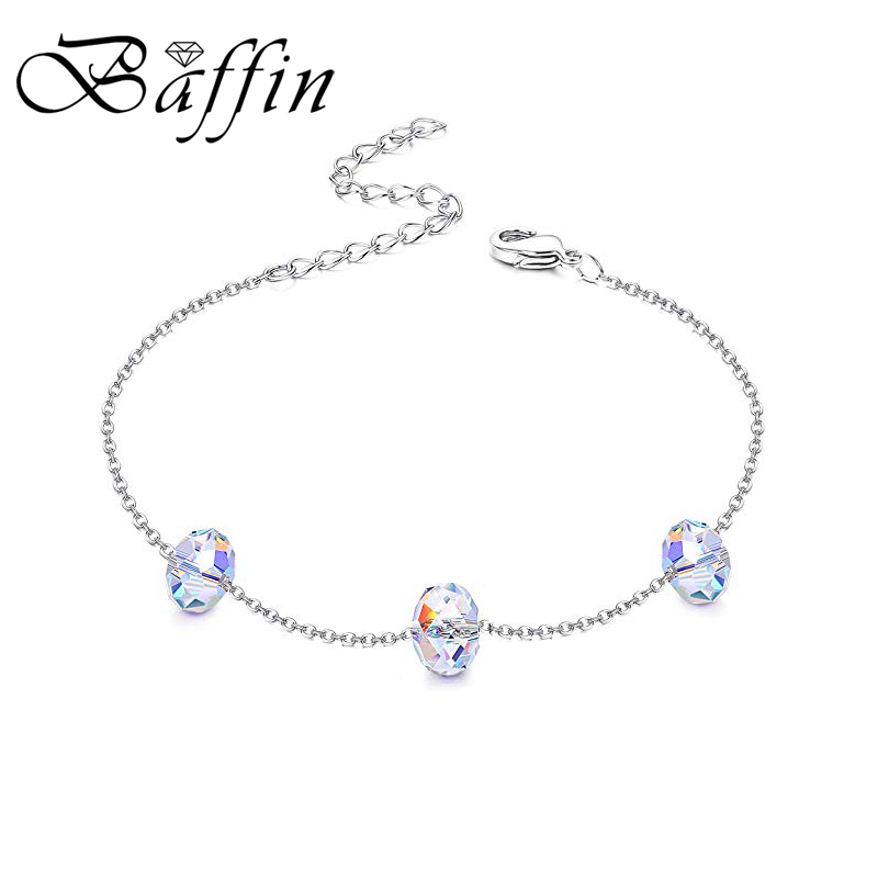 Baffin 2019 New Fashion Charm Bracelet Crystals From Swarovski Colorful Beads Hand Jewelry For Women Wedding Gift Summer Jewelry