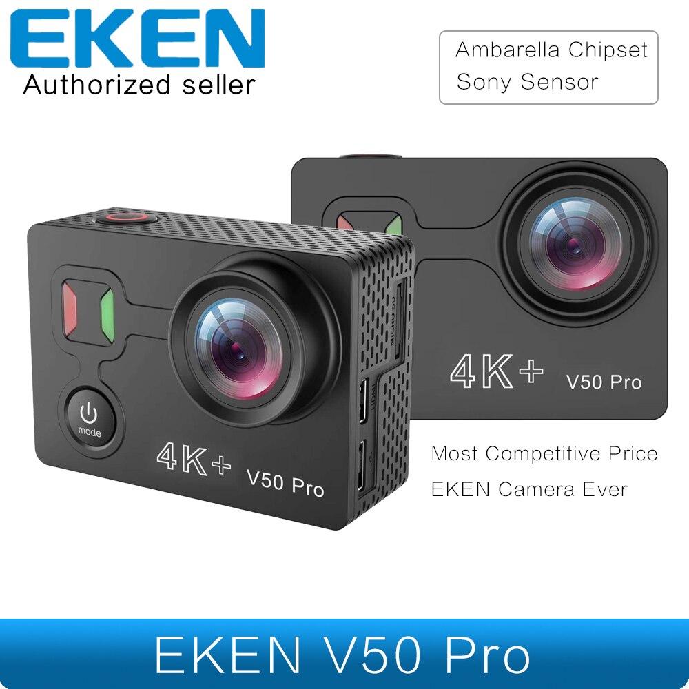 Date EKEN V50 Pro Action Caméra Ambarella Chipset Sony Capteur 4 k 30FPS Moto Caméra WiFi Étanche Mini Sport Caméra