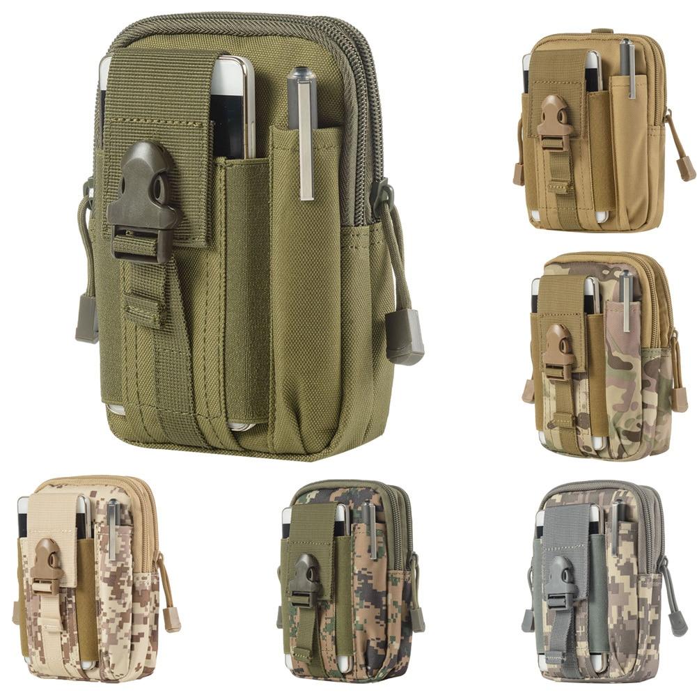Army Oxford Cloth Mens Mini Hook Waist Bag Belt Outdoor Zipper Fanny Pack Bum Bag Mariconera Hombre сумка на пояс мужская