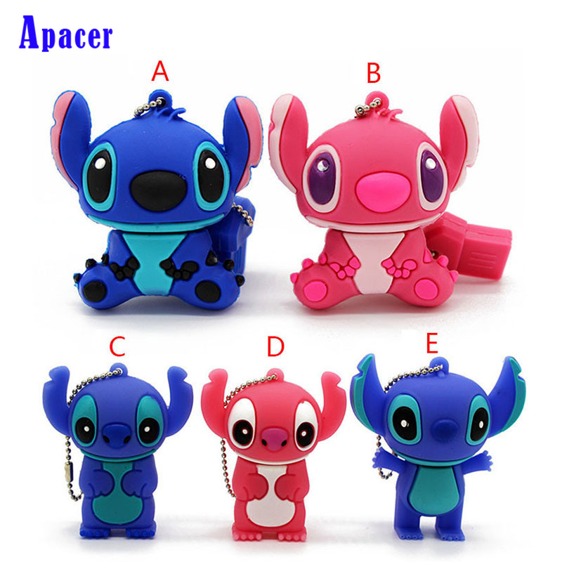 Apacer Stitch USB flash drive 64GB 32GB 16GB 8GB 4GB Genuine cartoon U disk cute thumb cute cartoon tomato doll usb flash drive red green 8gb