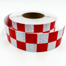 5cmX10m Traffic Multi Color Grid Design Conspicuity Reflective Safety Warning Tape Film Stickers Stripe for Truck