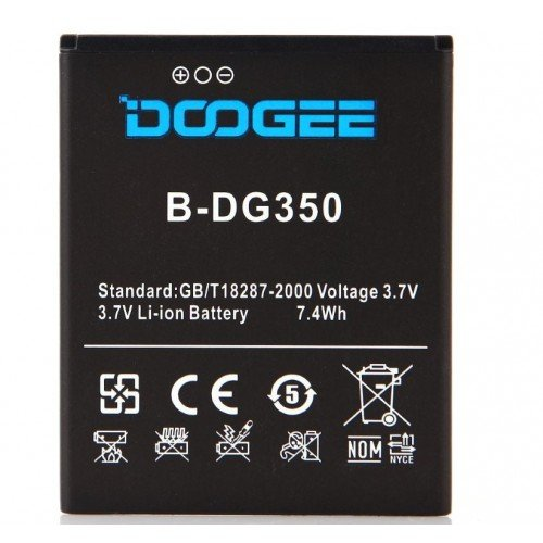 New Arrival Backup 2200mAh Battery For Doogee DG350 Smart Mobile Phone + + Tracking Number