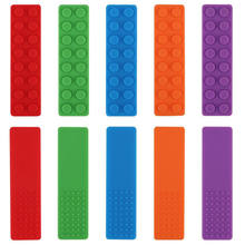 1pcs Sensory Chew Necklace Silicone Biting Brick - Autism Teething Toys for Kids - Chewy Sticks for Boys and Girls(China)