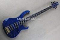 Бесплатная доставка 5 строка электрический бас Гитары, в возрасте модуля fb 5 бас 2006 Блошиный Signature Quilted клен 141110