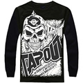 Fashion Brand Men Casual men Hip Hop Baggy Loose Skeleton Dance Long Sleeve T Shirt Plus Size XXXL 002