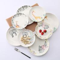 נורדי יצירתי בסגנון אירופאי כלי שולחן צלחת קרמיקה ארוחת בוקר צלחת צלחת סטייק קריקטורה יפה