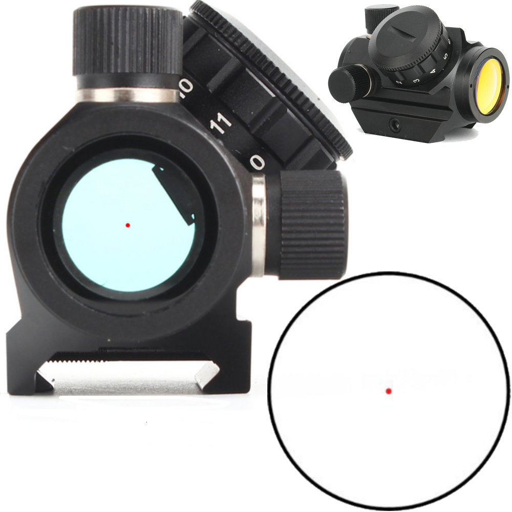 Low Power Compact 1X21 3 MOA Red Dot Sight Scope Weaver Picatinny Mount Tactical Hunting Trail Rifle Riflescopes