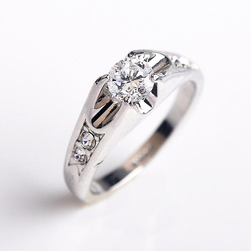 Юстар лучшие качества австрия кристаллы обручальные кольца для женщин из розового золота цвет обручальные кольца женский анель bijoux партия рождество s