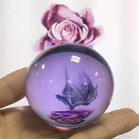 120mm Desktop Ornaments Useful Asian Rare Natural Magic Crystal Ball Reflection Image 9 Colors Feng Shui