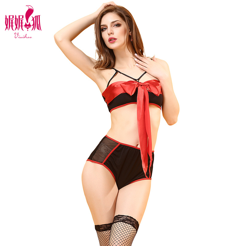 Sexy Transparent Bras Set Women  Lingerie Set  Bow Brassiere Panties Bra Set Sleepwear for Women