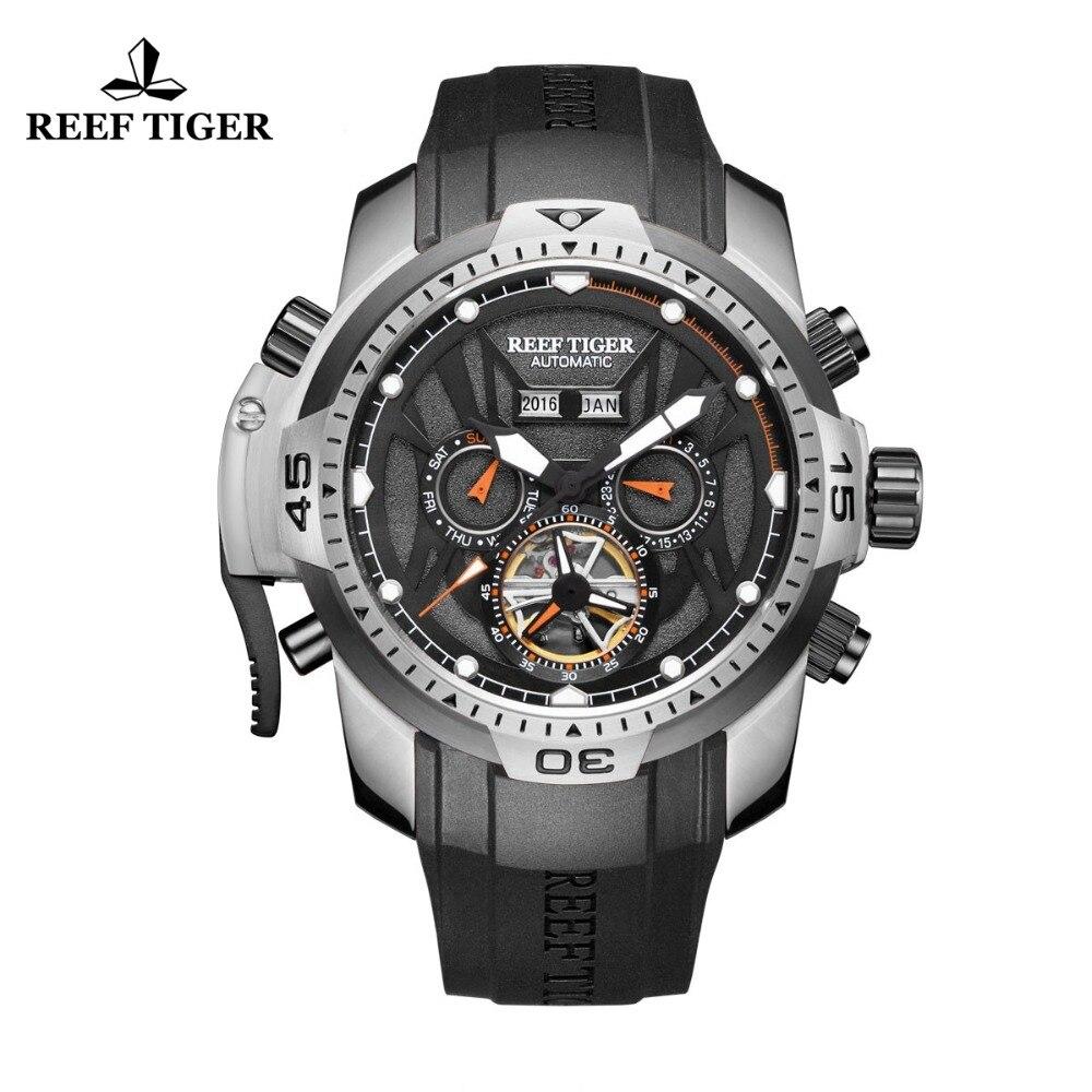 Reef Tigre/RT Sport Watch Complicato Quadrante con Anno Mese Calendario Perpetuo Grande Cassa In Acciaio Orologi RGA3532