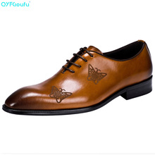 Italian Pointy Men Dress Shoes Genuine Leather High Quality Cow Leather Black Brown Wine Red Luxury Brand Shoes Oxford 2017 new arrival high quality genuine leather luxury brand summer men casual shoes breathable holes black brown khaki