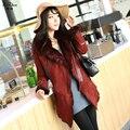 Winter Natural Lamb Fur Coats Double-faced Fur The Coat Women Luxury Sheepskin Slim Jacket With Real Fox Fur Collar 20141117-1X