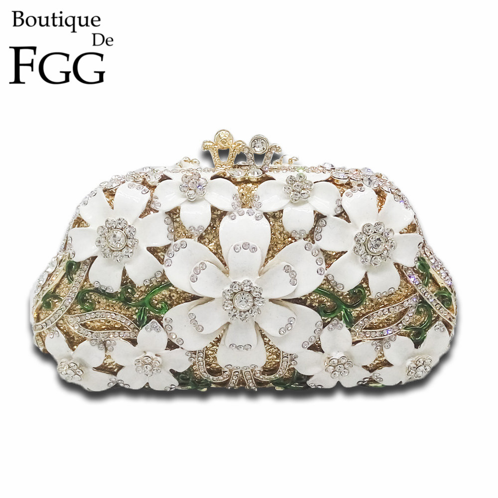 ФОТО Luxury Handbags Women Bags Designer Wedding Bridal Flower Crystal Clutch Bag Evening Purse Chain Shoulder Purses Bolsa Feminina