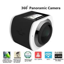 360 панорамный Камера 360 WiFi мини Камера Allwinner 4 К Камера Водонепроницаемый Спорт 3D VR видео Камера с Go Sport про видеокамеры